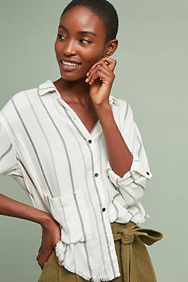 Slide View: 1: Cloth & Stone Arianna Textured Buttondown