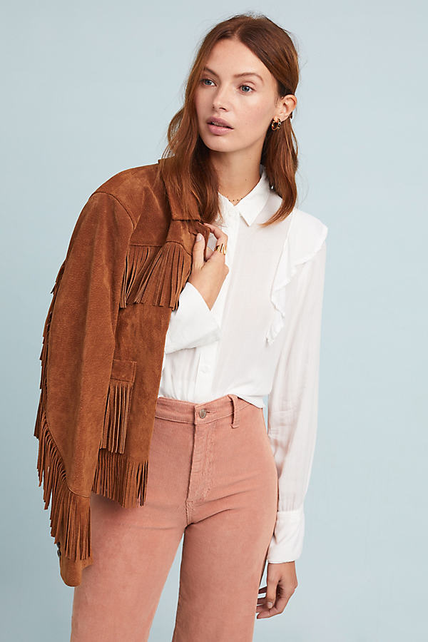 Cloth & Stone Dorin Ruffled Shirt - White, Size M