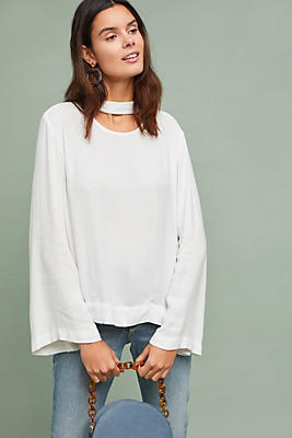 Slide View: 1: Cloth & Stone Cutout Blouse