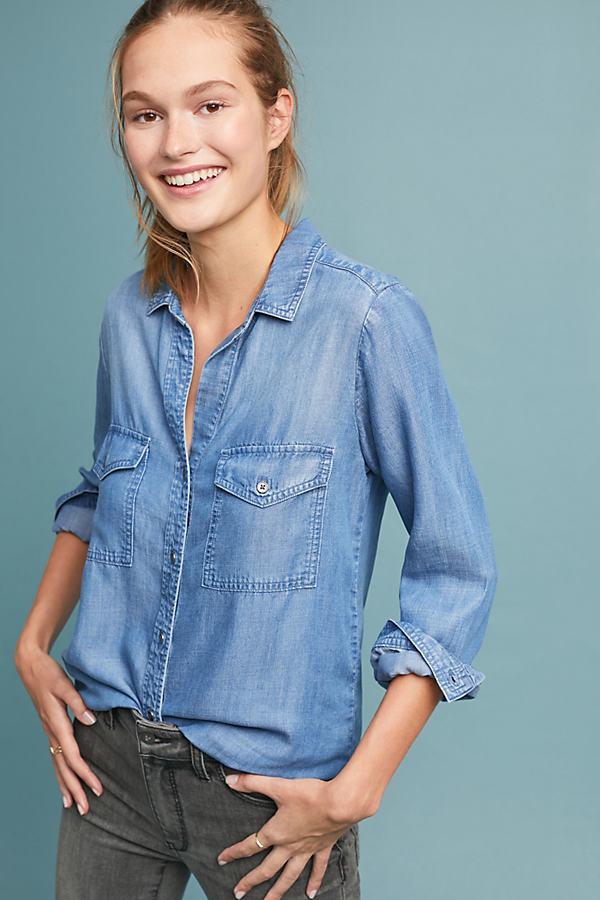 Cloth & Stone Flagstaff Chambray Shirt - Blue, Size S
