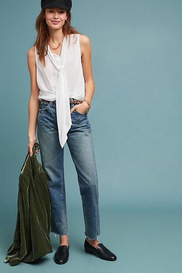 Cloth & Stone Sleeveless Blouse - White, Size M
