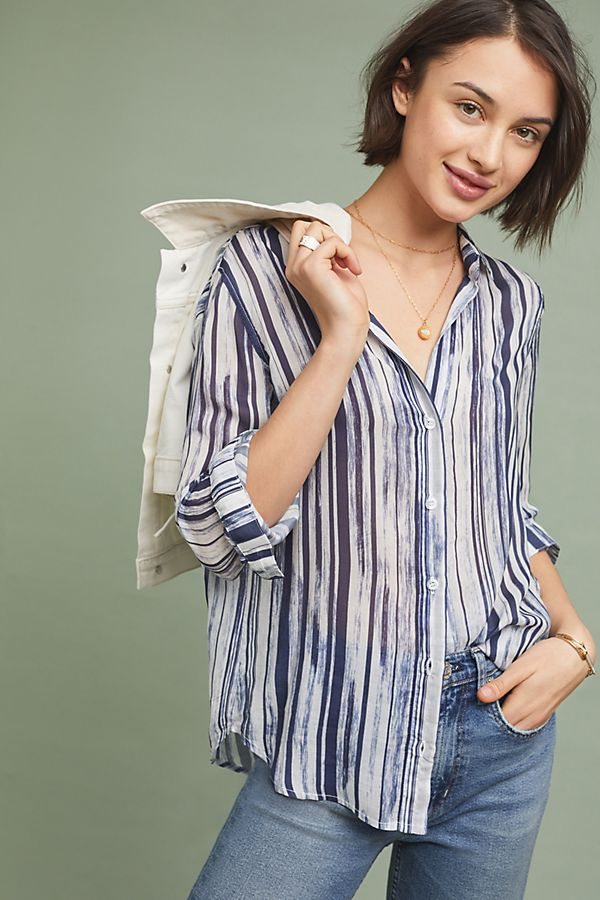 Slide View: 1: Cloth & Stone Starbolins Striped Buttondown