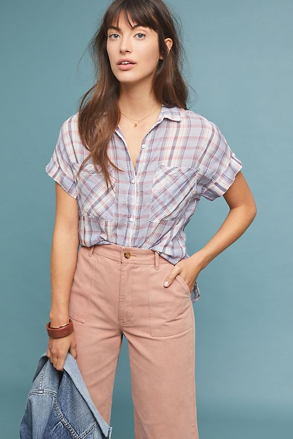 Slide View: 1: Cloth & Stone Plaid Buttondown
