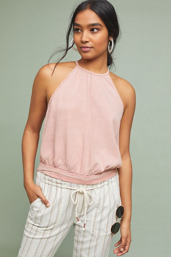 Slide View: 1: Cloth & Stone Halligan Halter Top