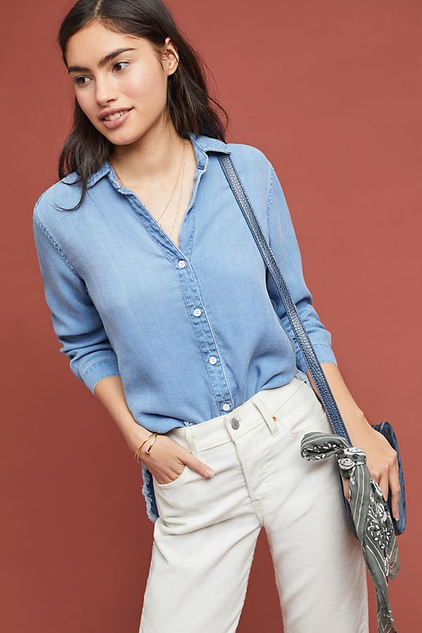 Slide View: 1: Cloth & Stone Clearwater Chambray Buttondown
