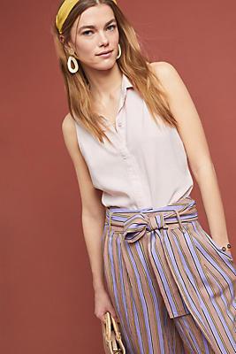 Slide View: 1: Cloth & Stone Gabriela Sleeveless Buttondown