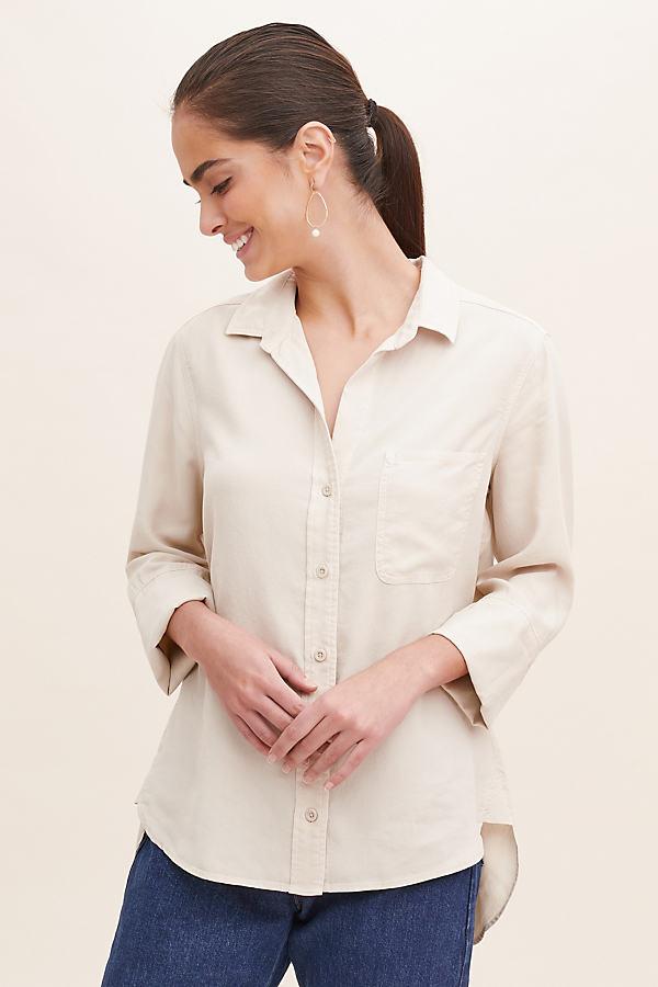 Cloth & Stone Marine Shirt - White, Size L