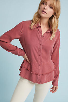Slide View: 1: Cloth & Stone Tiered Buttondown