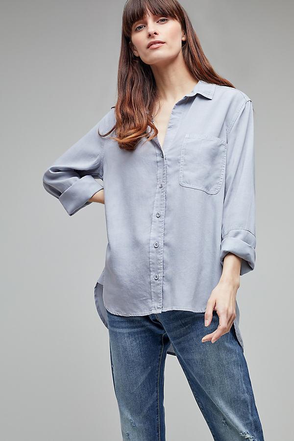 Aimee High-Low Shirt - Grey, Size M