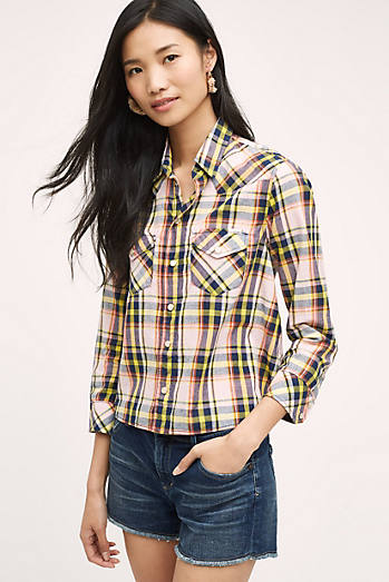 Rosa Plaid Buttondown