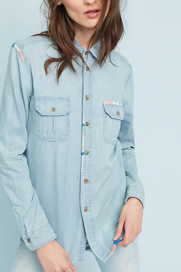 Slide View: 4: Chemise en chambray MOTHER
