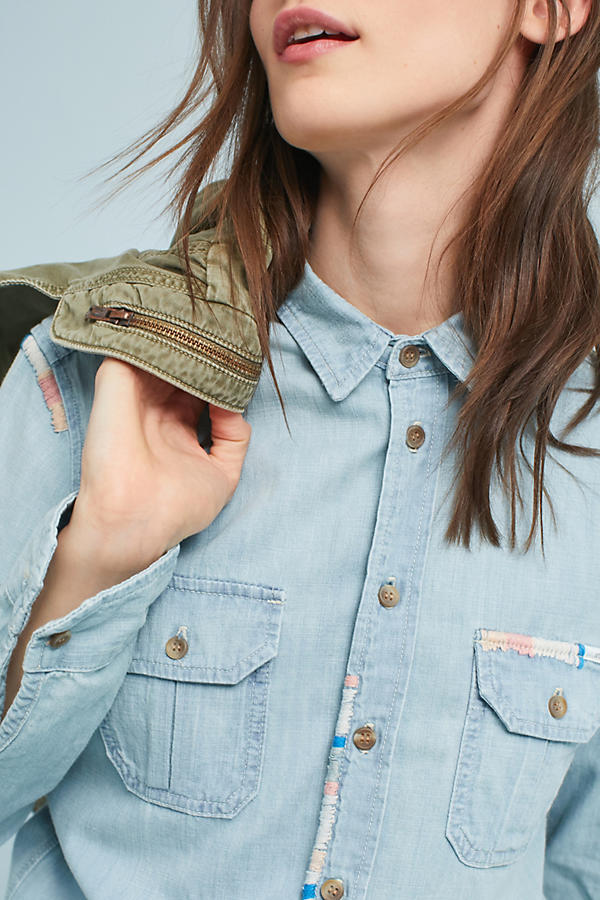 Slide View: 1: Chemise en chambray MOTHER