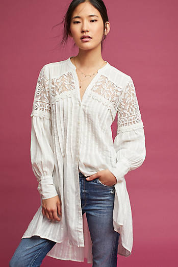 Pintucked Lace Tunic