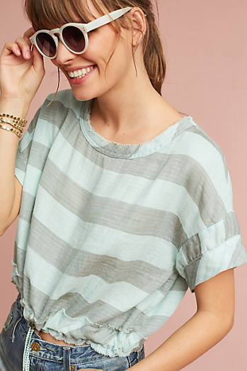 Breezy Drawstring Cropped Tee