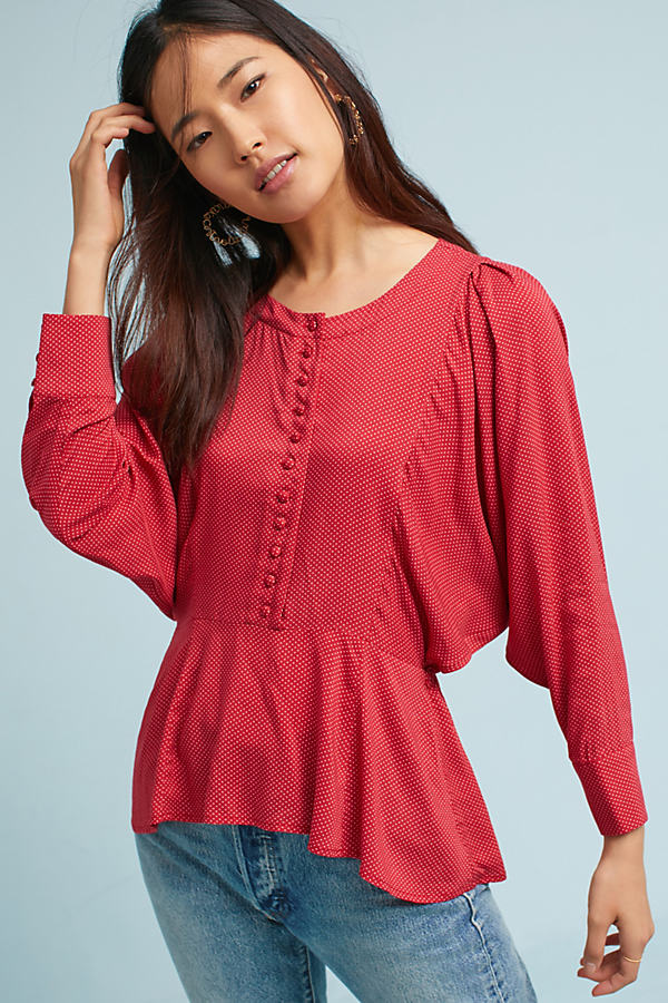 Chatham Blouse - Red Motif, Size S