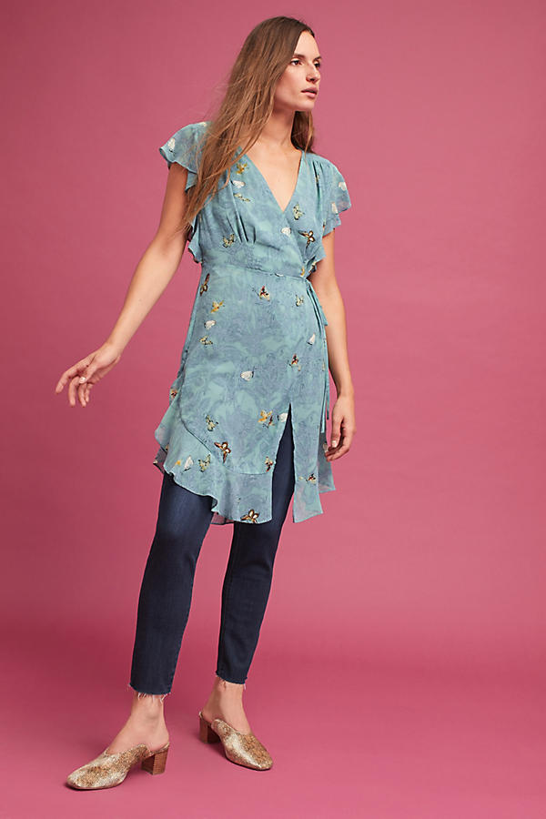 Slide View: 4: Osuna Wrap Tunic, Blue