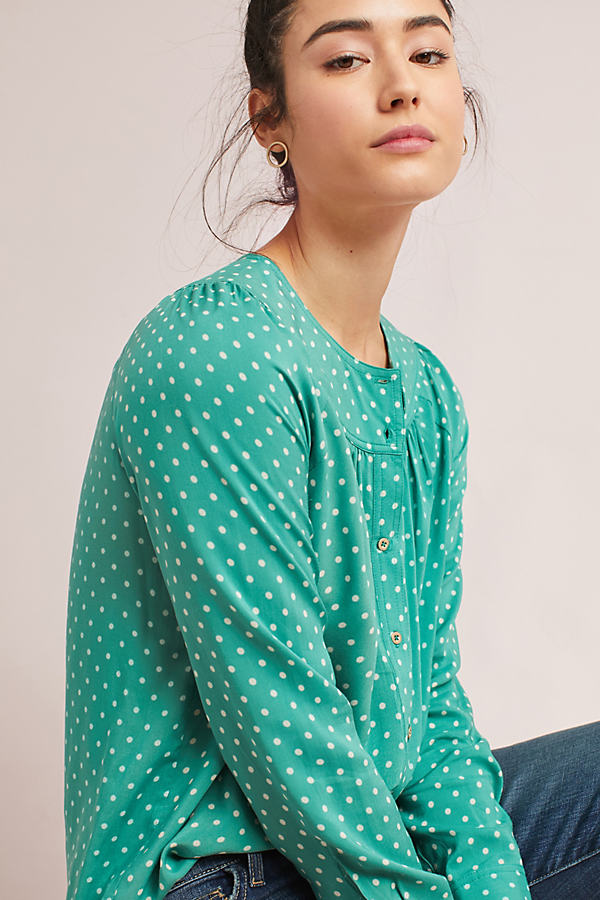 Asbury Printed Blouse - Kelly, Size S