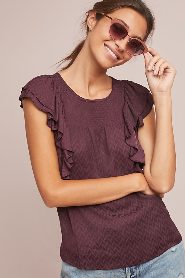 Majolica Blouse - Purple, Size Uk 6