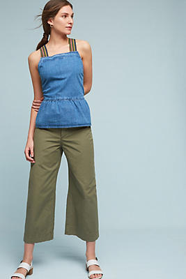 Slide View: 2: Denim Suspender Top