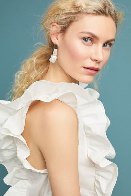 WHIT   WHIT Julie Ruffled Top  -    WHITE