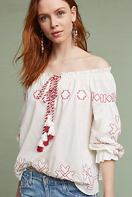 Slide View: 1: Farina Embroidered Blouse
