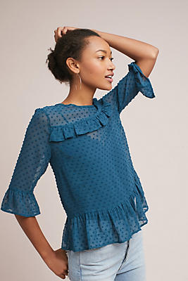 Slide View: 1: Dauphine Clip Dot Blouse