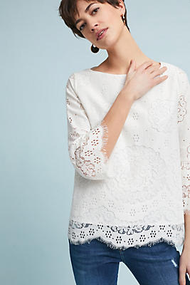 Slide View: 1: Audrina Lace Top