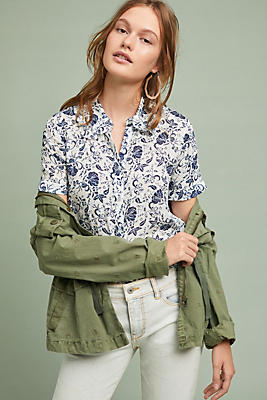 Slide View: 1: Magee Floral Buttondown