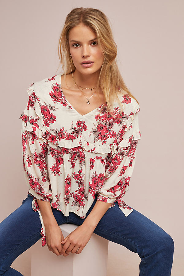 Pentas Peasant Blouse - Assorted, Size M