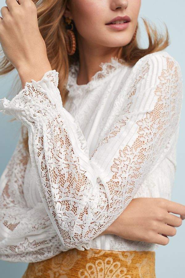 Slide View: 3: Delaunay Lace Blouse