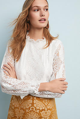 Slide View: 1: Delaunay Lace Blouse