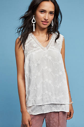 Miralyn Lace-Trimmed Blouse