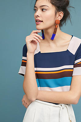 Slide View: 1: Graphic Striped Top