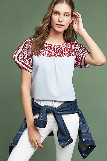 Tillie Embroidered Blouse