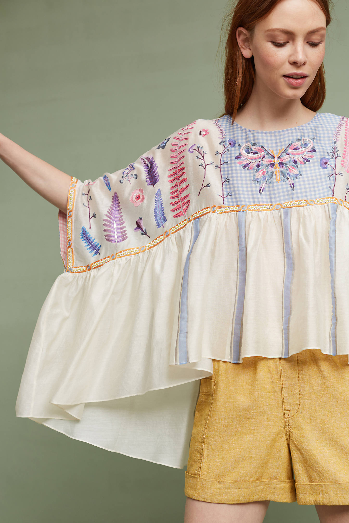 Mariposa Embroidered Top