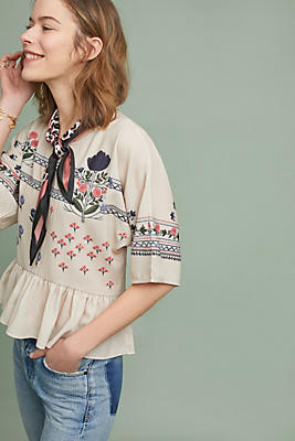 Slide View: 1: Tinka Embroidered Top