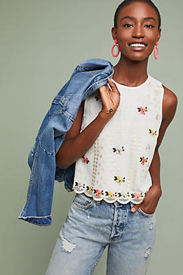 Slide View: 1: Dylan Embroidered Top
