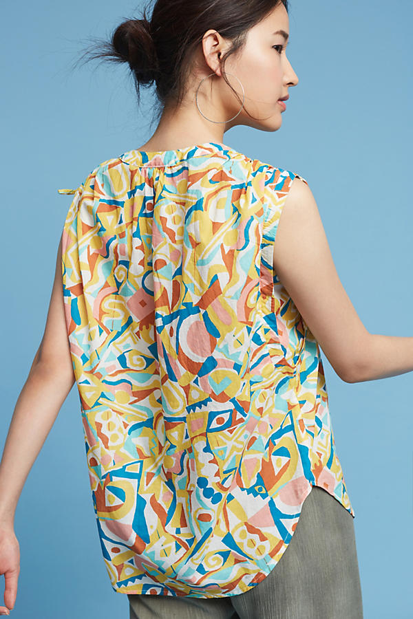 Slide View: 4: Brooklynite Printed Top