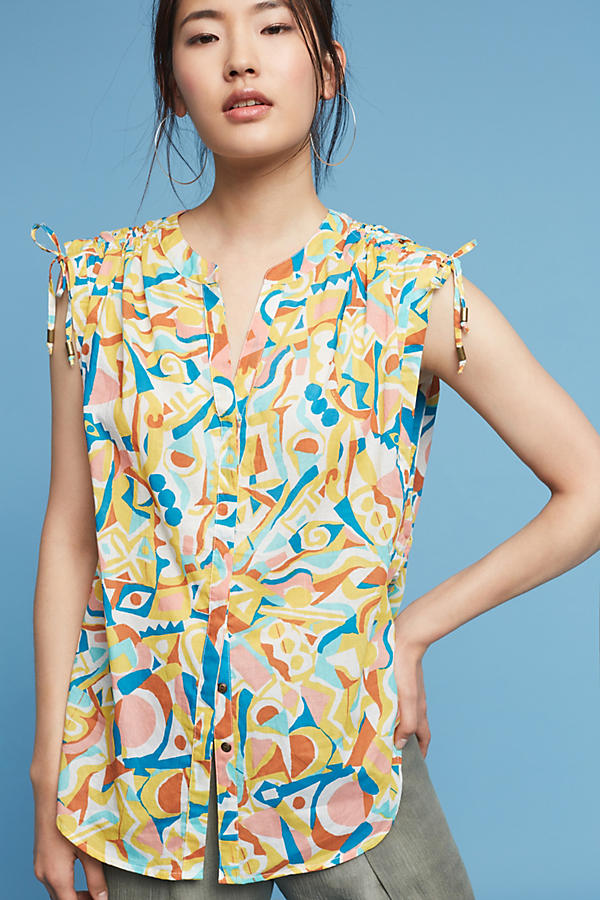 Slide View: 1: Brooklynite Printed Top
