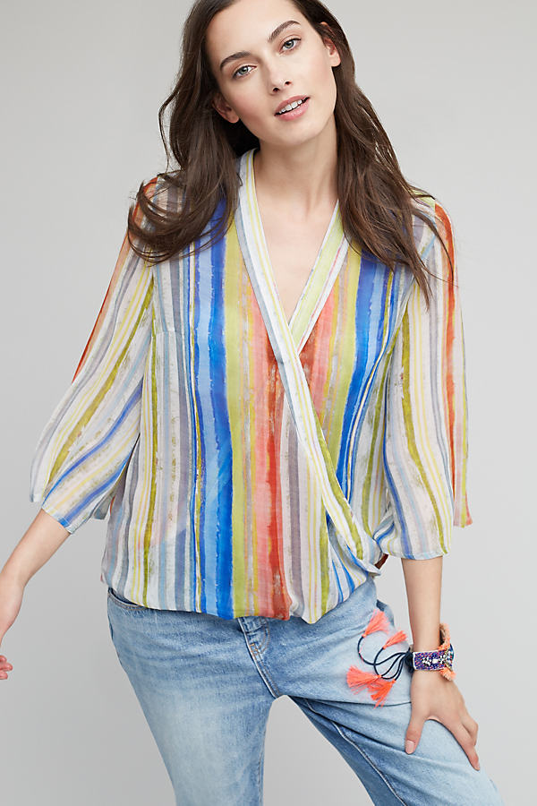 Erasmus Striped Blouse, Multicolored - A/s, Size Xs
