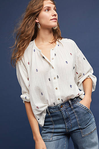 Adela Embroidered Buttondown