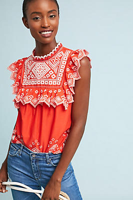 Slide View: 1: Briar Embroidered Blouse