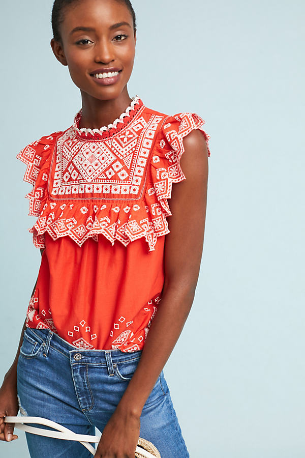 Briar Embroidered Blouse - Assorted, Size Uk 8
