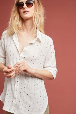 Sparkle Striped Buttondown by Feather Bone