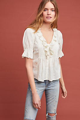 Slide View: 1: Sienna Ruffled Blouse