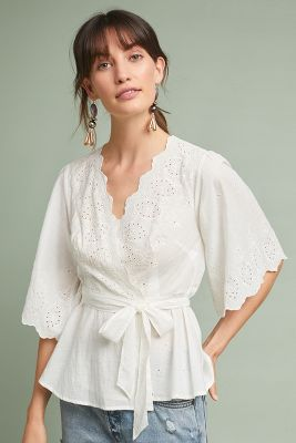 Loire Wrap Blouse by Meadow Rue