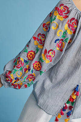 Slide View: 2: Embroidered Soleil Top