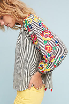 Slide View: 1: Embroidered Soleil Top
