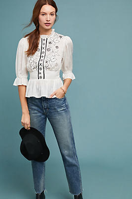 Slide View: 1: Meila Embroidered Blouse