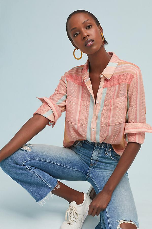Calipatria Oversized Shirt - Pink, Size Uk 6